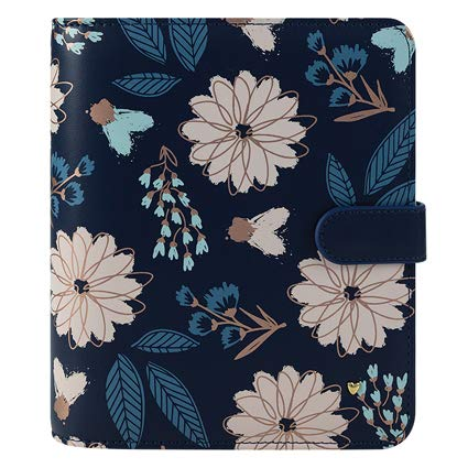 Compact Brushed Planner Love Simulated Leather Snap Binder - Floral