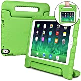 Apple iPad Air 2 case for kids, iPad Pro 9.7 kids case [SHOCK PROOF KIDS IPAD CASE] COOPER DYNAMO Kidproof Child iPad Cover for Boys Girls Toddlers | Kid Friendly Handle Stand, Screen Protector, Green
