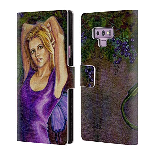 Leather Erin (Official Jane Starr Weils Erin Fairies 2 Leather Book Wallet Case Cover for Samsung Galaxy Note9 / Note 9)