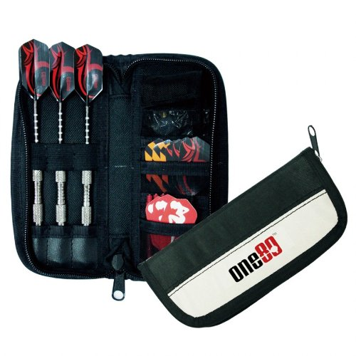 One80 Midi Compact Compact Darts Case Wallet Black   B00K92CDQS