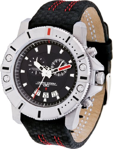Jorg Gray 9500 Series Silver / Black Swiss Chronograph Men's Watch