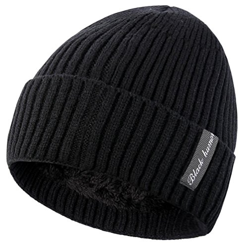- Novawo Winter Fluff Lined Beanie Hat Knit Skull Cap