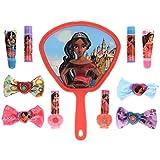 Townley Girl Disney Elena of Avalor Cosmetic Set with Nail Polish, Lip Balms and Glosses, Hair Bows and Mirror