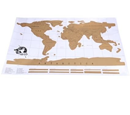 Buy Travel Scratch Off Map Personalized World Map Poster Traveler ...