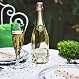 Tableclothsfactory 60 Pcs - Clear 4.7oz Trendy Hollow Stem Disposable Plastic Champagne Flutes