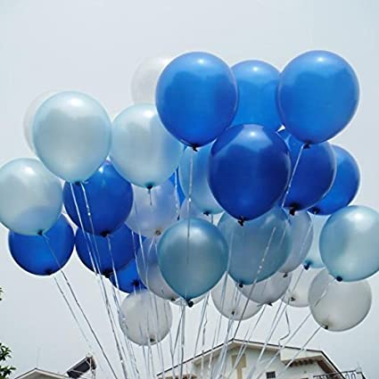 100  White,Red And Blue Latex Pearl Balloons Birthday wedding Party Balloons