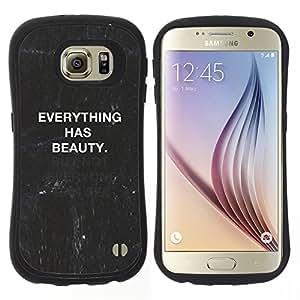 "Hypernova Slim Fit Dual Barniz Protector Caso Case Funda Para Samsung Galaxy S6 [Cita pizarra Negro Blanco Texto""]"