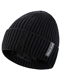 Novawo Winter Fleece Lined Beanie Hat Thick Skull Cap
