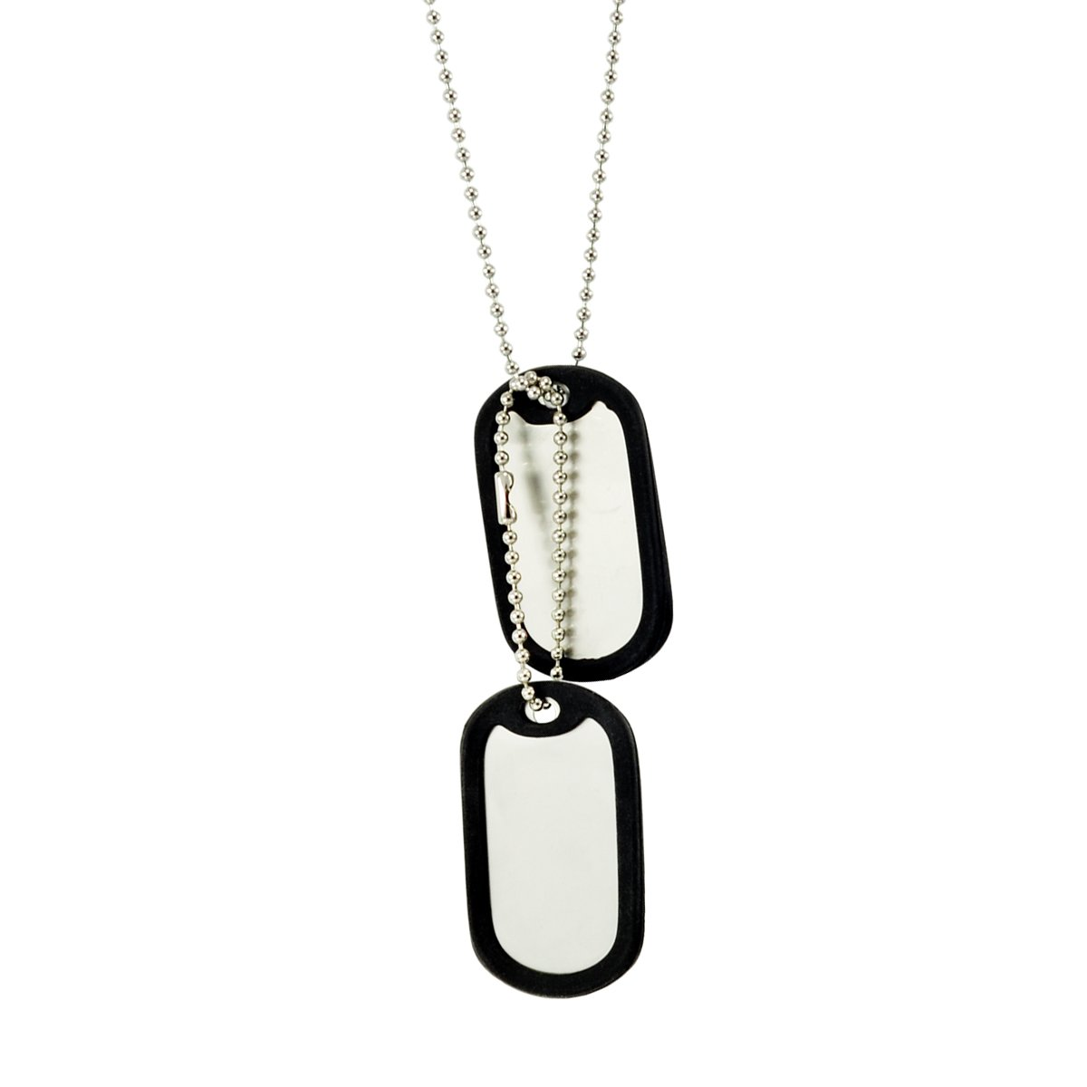 Paialco Stainless Steel Dog Tag Set Complete with Chains & Silencers