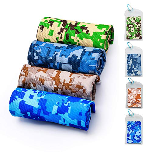 EMBNN Cooling Towel for Women Men, Chilling Neck Wrap for Sports, Workout, Fitness, Gym, Yoga, Pilates, Travel, Camping & More - Camouflage Navy, Size: 36