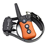 iPets PET619S 100% Waterproof & Rechargeable Dog Shock Collar 900 ft Remote Dog Training Collar with Beep Vibrating Electric Shock Collar for Dogs (10-100lbs)