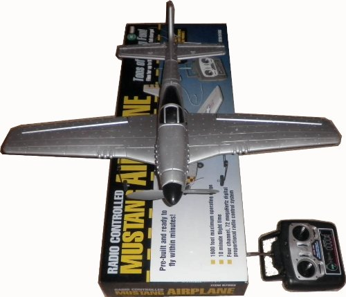 4 Channel Radio Controlled P51 Mustang Airplane PRE-BUILT with Wingspan 27 Inch