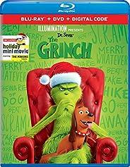 Illumination Presents: Dr. Seuss' The Grinch [Blu-ray+DVD+Digital] Packaging may