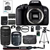 Canon EOS Rebel T7i - 800D DSLR Camera + 64GB SDXC Memory Card + Canon 18-55mm IS STM Lens + Canon 75-300mm III Lens + 64GB SDXC Memory Card + BackPack + Accessory Kit - International Version