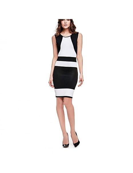 GUESS - Vestido - para Mujer Blanco y Negro M