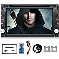 Double 2 Din Touchscreen Bluetooth DVD/CD/MP3/USB/SD AM/FM Car Stereo 6.2 Inch Digital LCD Monitor Wireless Remote