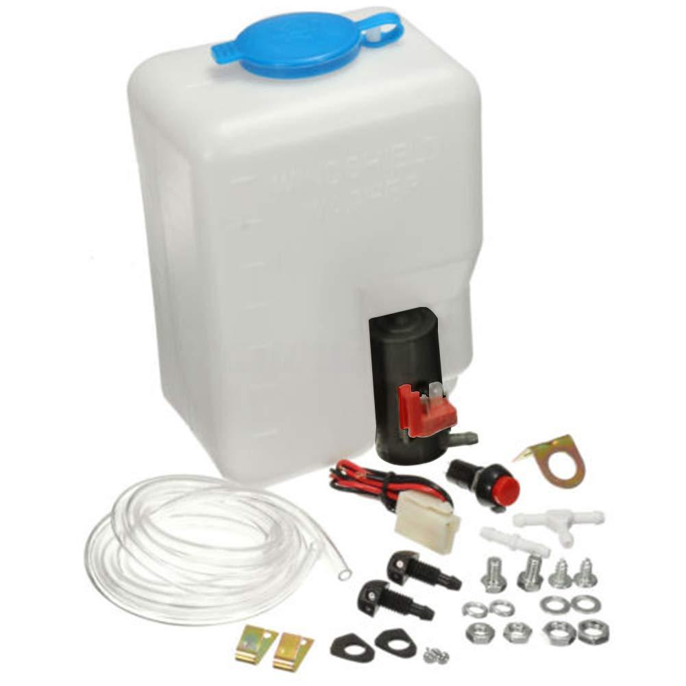 FRFJY Kit de r/éservoir de Pompe de Lave-Glace de Lave-Glace Universel 12V