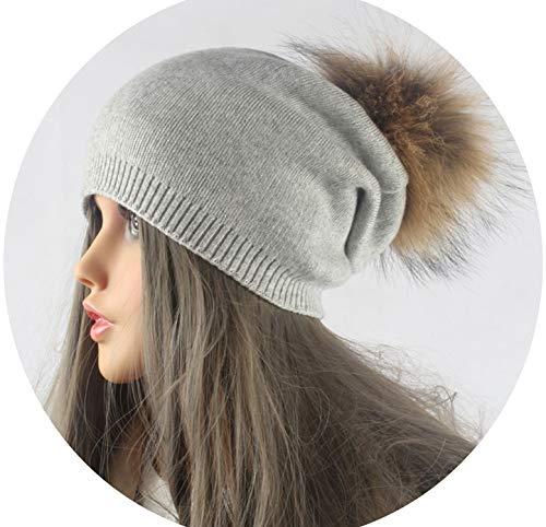 Winter Autumn Pom Pom Beanies Hat Women Knitted