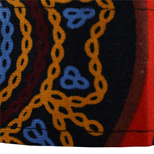 Da Giallo Moda Bhydry Manica Camicie Top Blusa Lunga Uomo Sottile Casual Stampata 655PZqw