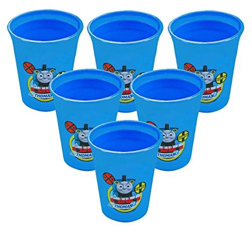Thomas the Tank Engine TTTV-N270 6-Pack 12 oz BPA-Free Plastic Reusable Kids Cups, - Train Merchandise Thomas