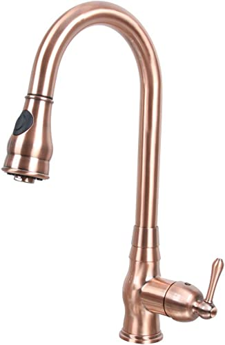 One-Handle Pull-Down Copper Kitchen Faucet – 5Years Warranty Akicon