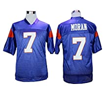 Mens Alex Moran 7 Blue Mountain State Movie Football Jersey Stiched