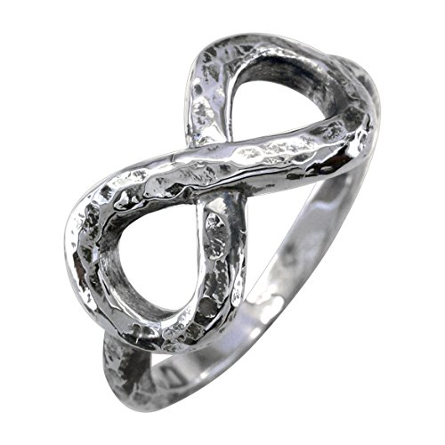 Infinity Ring Couple in 18k White Gold - size 8.5 by Sziro Infinity Rings