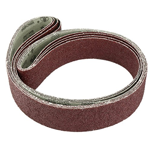 uxcell 2-Inch x 72-Inch 36 Grit Lapped Joint Aluminum Oxide Sanding Belt 4pcs by uxcell (Image #1)