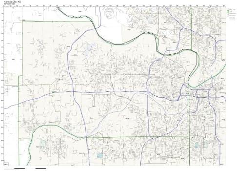 Amazon Com Zip Code Wall Map Of Kansas City Ks Zip Code Map Not