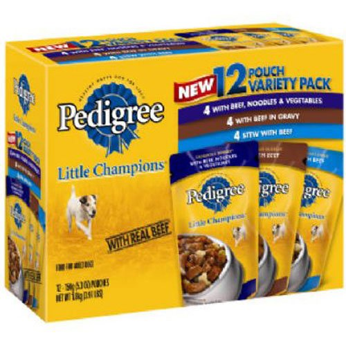 Pedigree ~ Little Champions ~ Food for Small Dogs ~ Casserole Variety Pack ~ Box of 12 / 5.3oz Pouches (Pedigree Dog Food Pouches compare prices)