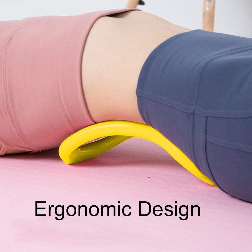Anillo de Yoga Oval C/írculo de Ejercicio C/írculo de Ejercicio M/ágico C/írculo de Resistencia de Pilates TPE Suave para Quemar Grasa Core-Training Amarillo EQLEF Pilates Anillo