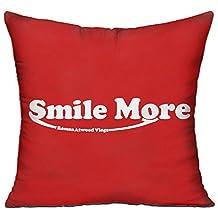 Kongpao Roman Atwood Smile More Pillow Case & Insert Throw Pillow