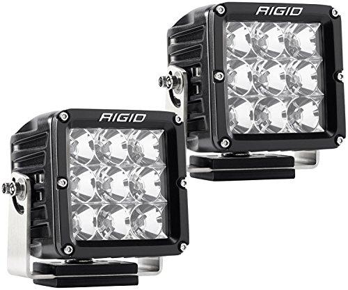 Rigid Industries 322113 D-XL Pro Flood Light; Surface Mount; Incl. Harness; Bracket; Hardware; Hybrid; 9 White LEDs; Black Square Housing; Set Of 2;