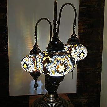 lampara de mesa mosaico de 3 globos Nº3: Amazon.es: Iluminación