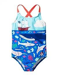Arshiner Kid Girls One Piece Swimsuit Cross Straps Swimwear
