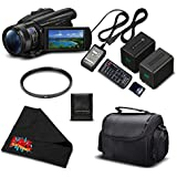 Sony FDR-AX700 4K HDR Camcorder w/3.5 Inch LCD (FDR-AX700/B) Starter Bundle- International Version (No Warranty)