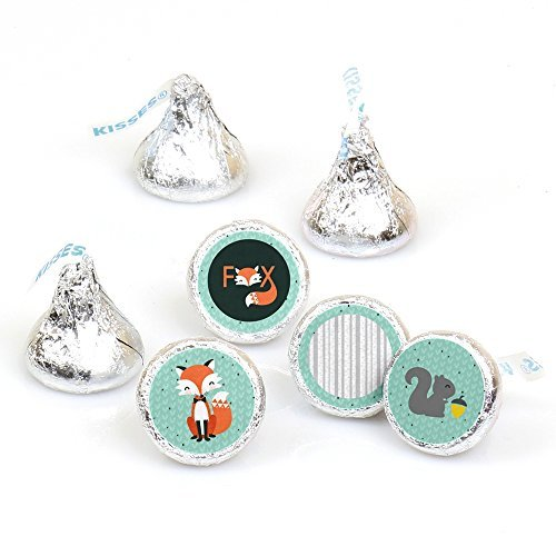 (Mr. Foxy Fox - Baby Shower or Birthday Party Round Candy Sticker Favors - Labels Fit Hershey's Kisses (1 sheet of 108))
