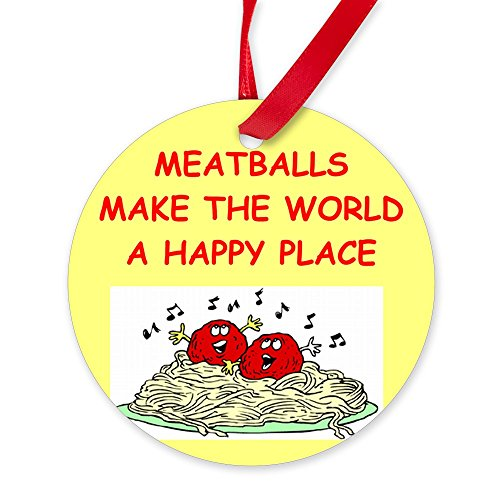 CafePress - MEATBALLS.Png - Round Christmas Ornament (Christmas White Png Ball)