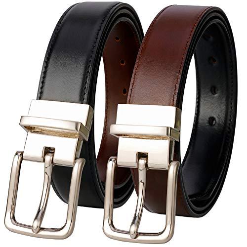 Belts for Men - Lavemi Mens Reversible Italian Cowhide Leather Dress Belt,One Belt Reverse for 2 Colors (21855-1 130) (Bill Lavin Belts)