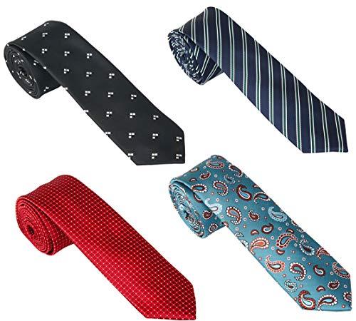 Mens Skinny Ties Classy Slim Necktie for Men Boys Woven JACQUARD Business Tie