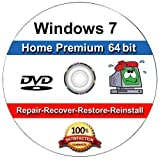 Software : WINDOWS 7 Home Premium 64-Bit Compatible Versions Re-install Windows Factory Fresh! Recover, Repair, Re Install - Restore Boot Disc ~ Fix PC - Laptop - Desktop ~DVD/ROM