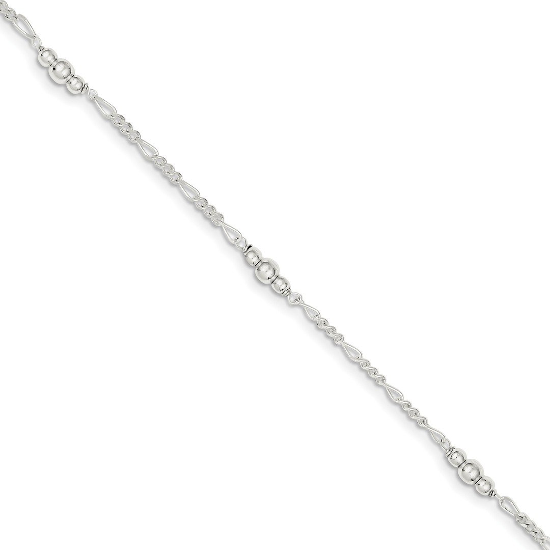 Ankle Bracelet Foot Jewelry Anklet - ICE CARATS 925 Sterling Silver Bead 1 Inch Adjustable Chain Plus Size Extender Anklet Ankle Beach Bracelet Fine Jewelry Ideal Gifts For Women Gift Set From Heart