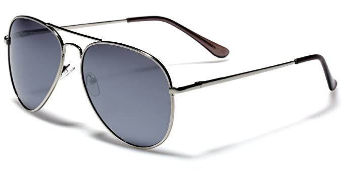 Amazon.com  Polarized Classic Metal Aviator Sunglasses Retro Cop Pilot  Glasses with Spring Hinge  Sports   Outdoors 7aa363f90