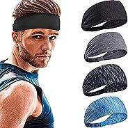 Sports Headband for Men Women, NO Slip Mens Headband Sweat, Moisture Wicking Sweat Headband, Men Workout Headb