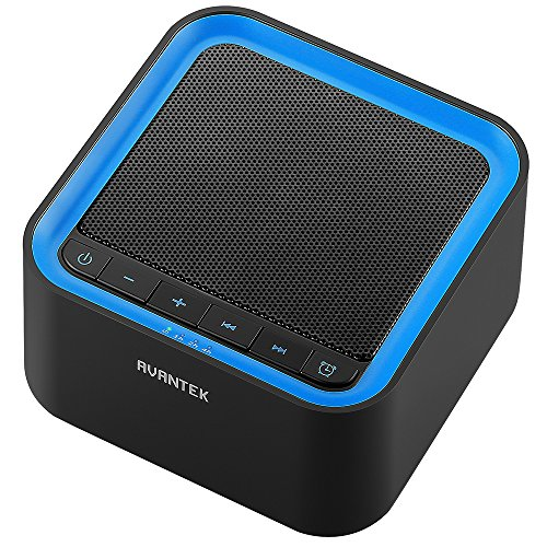 AVANTEK Portable White Noise Sound Machine with 20 Soothing Sounds, 30 Levels of Volume and Maximum 7-Hour Timer Setting