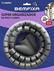 Super Organizador De Fios E Cabos Mais Bemfixa Cinza 16mm