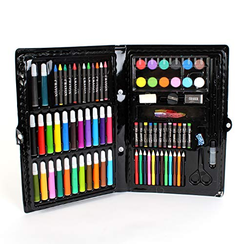 Kicko Deluxe Art Set - 101 Pieces Assorted Art Kit Supplies for Artists, Painters, Watercolor, Drawing, Sketching, Coloring, Crafts, Teachers, Amateurs, Professionals, and Beginners