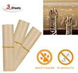 Pet Couch Protector, Clear Vinyl Heavy-Duty Pet Cat Dog Guards with Self-Adhesive Pads, Maximum Nearly-Invisible Protecting Your Furniture from Cat Scratching with Easy Installation (3 Packs)