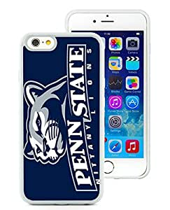 Popular iPhone 6 4.7 Inch TPU Case ,Unique And Lovely Designed With Ncaa Big Ten Conference Football Penn State Nittany Lions 3 White iPhone 6 4.7 Inch TPU High Quality Cover