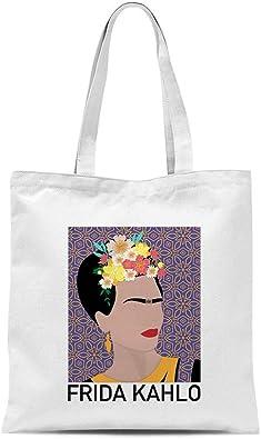 Sac cabas Frida Kahlo 100 % toile de coton imprimé fabriqué